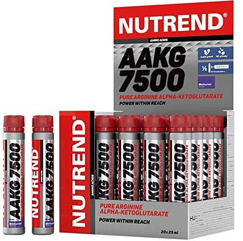 Nutrend AAKG 7500 Shot 20x25ml Blackcurrant shots L-Arginine Alpha Ketoglutarate