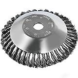 Miotlsy Brosse à Mauvaises Herbes pour débroussailleuse, 200 x 25,4 mm, Fil d'acier, tête de Coupe Professionnelle (8')