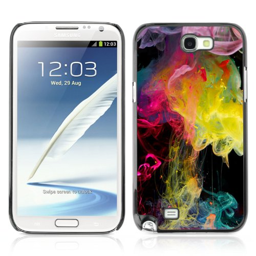 CelebrityCase Polycarbonate Hard Back Case Cover for Samsung Galaxy Note 2 II ( Abstract Colorful...