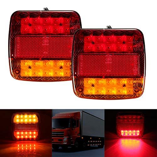 potente para casa Wrighteu2 PCS Trailer Tail Light Lámpara indicadora de señal de freno Luz trasera Lámpara roja …
