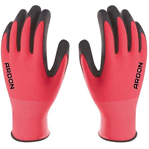 PETRA PROTECTION guantes de trabajo, alta calidad, nylon recubiertos con espuma de...