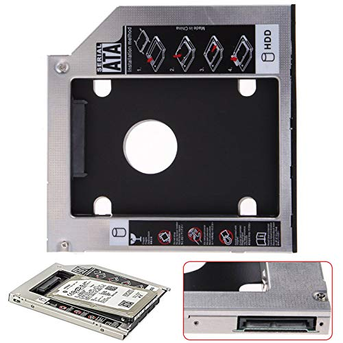 UK-TECH SATA 9.5 mm HDD To SATA Bay Hard Drive Caddy Adapter Tray Enclosures for Laptop with 9.5 mm Optical Drive Slot