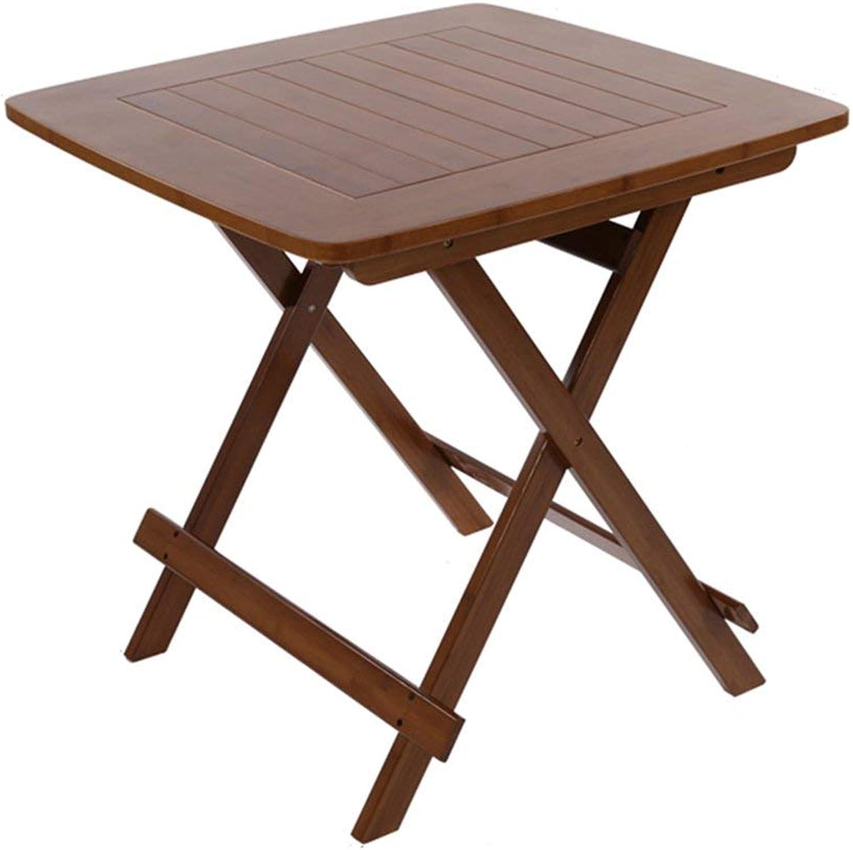 Obtén lo ultimo BJYG Mesa Mesa Mesa Plegable Mesa de Comedor portátil para Actividades al Aire Libre, de Ocio, Cuadrada, Cuadrada, marrón, Cuatro (tamaño  marrón 80  80  76 cm)  precio razonable