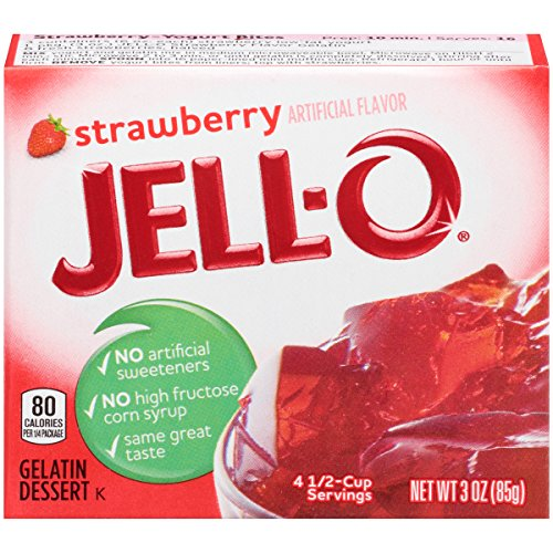 JELL-O Strawberry Gelatin Dessert Mix (3 oz Box)