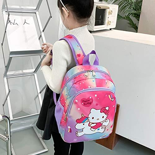 Cute Unicorn Toddler Backpack YUESEN Kindergarten Backpack Cartoon Printing Unicorn Purple Casual Day pack Book Perfect for Nursery 3-6 Years Old Girls Elementary Student(Purple Unicorn)
