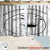 Jktown Humor Outdoor Drapes Waterproof Privacy Indoor 72'x84' Happy Boy Meme s