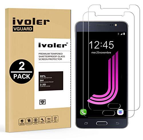 ivoler [2 Unidades] Protector de Pantalla Compatible con Samsung Galaxy J7 2016,...
