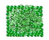 Kiesel, gerundete Dekorsteine, für Vasen und Dekoration, Marbles, Glasmurmeln, Wohnaccessoires & Dekoartikel 200pcs (1kg) Von ARSUK® (Grün)