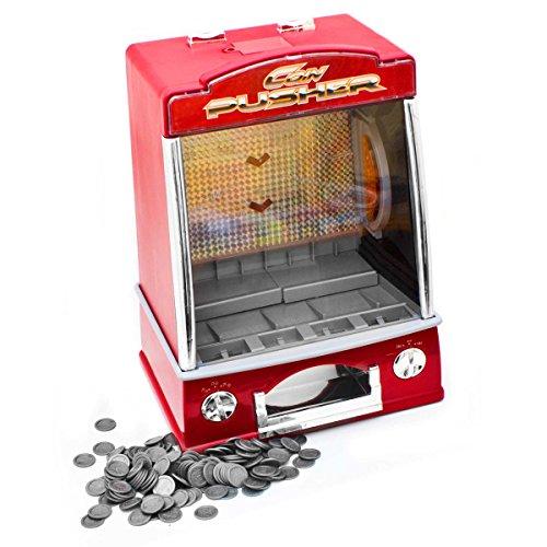GOODS+GADGETS Münzschieber Geldspielautomat Spielautomat Spielhallen Automat Coin Pusher