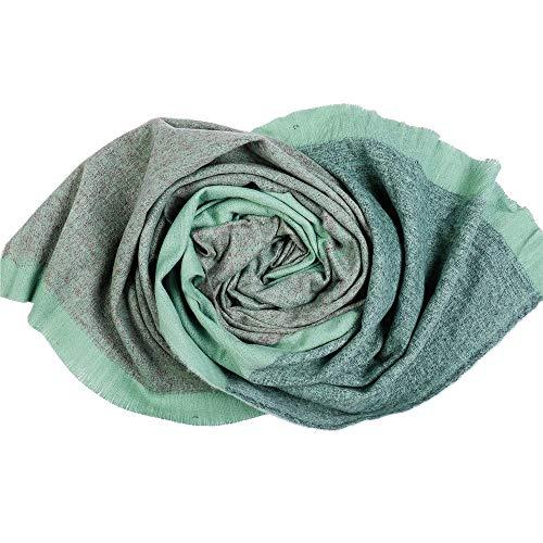 Alvnd Dames Elegante gebreide sjaal Poncho kleuraanpassing, warme winter sjaal beschikbaar 60 * 200cm B