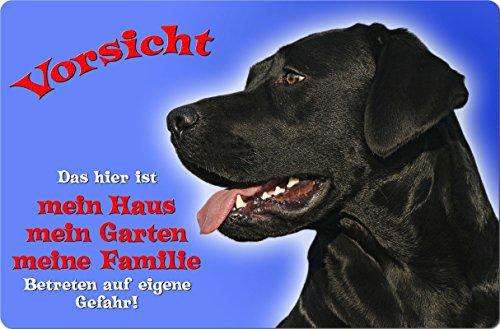 +++ LABRADOR Retriever - Metall WARNSCHILD Schild Hundeschild Sign - LAB 55 T1 S