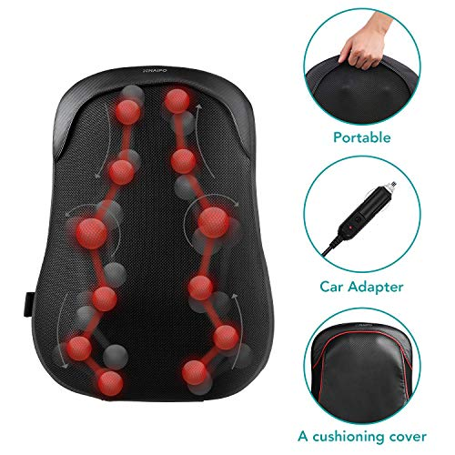Naipo Back Massager Shiatsu Massage Chair Cushion...