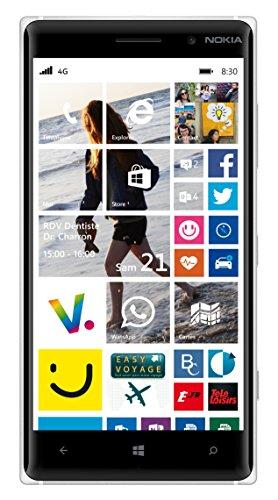 """puissant Smartphone 4G débloqué Nokia Lumia 830 (Écran: 5 """"-16 Go – Windows Phone 8) Blanc"""