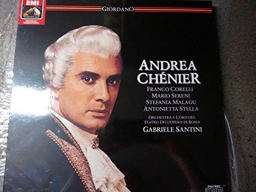 GIORDANO, Umberto: Andrea Chenier (Opera in Four Acts - Libretto by Luigi Illica) -- Gabriele Santini (cond), Franco Corelli, Mario Sereni, Antonietta Stella -- Emi () Printed in Germany ----Vinyl LP-EMI EX 153 2910643-GIORDANO Umberto (Italia)-CORELLI Franco (tenore); MALAGU Stefania; SANTINI Gabriele (dir); SERENI Mario; STELLA Antonietta (soprano)