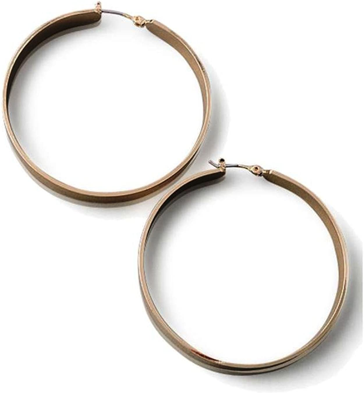 Plate Hoop Rose Gold Earrings And Beautifully Crafted To Portray Pure Elegance