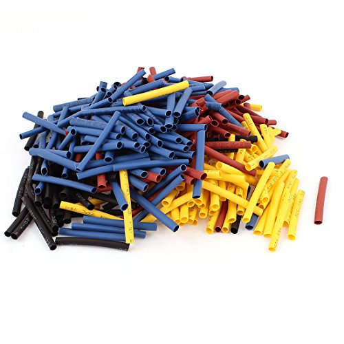 Aexit 400pcs Ratio Shaft Collars 2:1 3mm Dia Heat Shrink Tube 40mm Heat Shrinkable Shaft Collars Assorted Colors