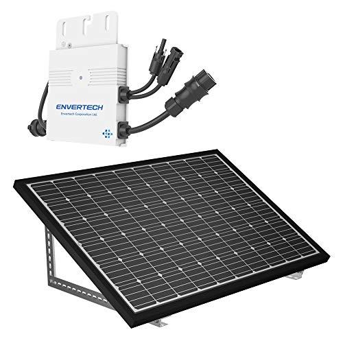 Mini Solaranlage 300 Watt Solarstrom für Eigenverbrauch | Plug & Play Komplettset | Montagematerial für Fassade | solar-pac PV