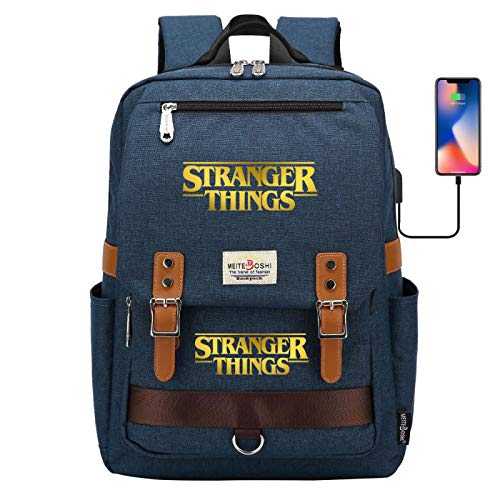 Waterproof Laptop Backpack for Men and Women Study Backpack with USB Port for Travel/Learning Backpack Large Darkblue