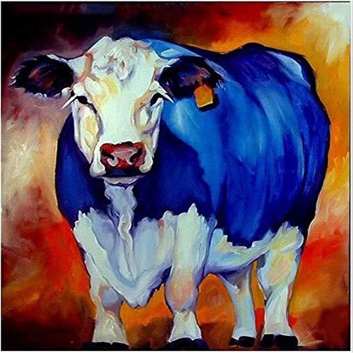 Lazodaer - Kit de pintura de diamante para adultos, niños, decoración de habitación, oficina en casa, vaca gorda, 30 x 30 cm