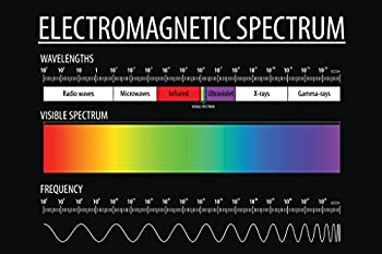 Electromagnetic Spectrum and Visible Light Educational Reference Chart Laminated Dry Erase Sign Poster 18x12