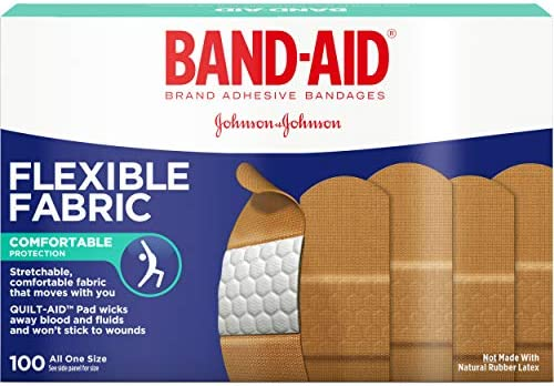 Band Aid Johnson and Johnson Flexible Fabric Boxes 100 Count Pack of 2 product image