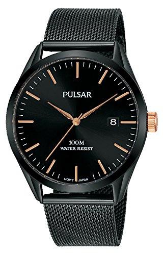 Pulsar Herren Analog Quarz Uhr mit Edelstahl Armband PS9573X1
