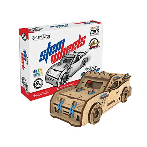 Smartivity STEMWheels Rally Racer STEM STEAM Educational DIY Building Construction Activity Toy Game Kit, Easy Instructions, Experiment, Play, Learn Science Engineering Project 6+with Launcher