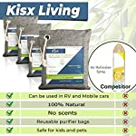 Nature Fresh Air Purifier Bags - Activated Charcoal Bags Odor Absorber, Odor Eliminator for House, Shoe Deodorizer, Car… 10 MEGA-VALUE ODOR NEUTRALIZER 6-PACK: The Kisx activated charcoal bags set is here to give you more bang for your buck and help you keep your home smelling great. Our charcoal bags odor absorber set is versatile for all spaces. NATURAL AIR PURIFIER BAGS FOR 24/7 FRESHNESS: Now you can breathe fresh air with our odor absorbers for home. Unlike plug-in deodorizers for home or any chemical-packed air deodorizer for home, our air purifying charcoal bags are made from 100% pure bamboo. GET RID OF FOUL ODORS ONCE & FOR ALL: Looking for a room deodorizer for home to eliminate unpleasant smells? Our charcoal air purifiers can be used as a natural air freshener, dog odor eliminators for home, car deodorizers or closet air freshener.
