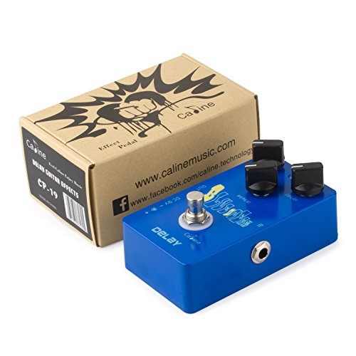Caline Electric Delay Guitar Effect Pedal Aluminum Alloy Housing with 3 Switches CP-19 Blue Ocean