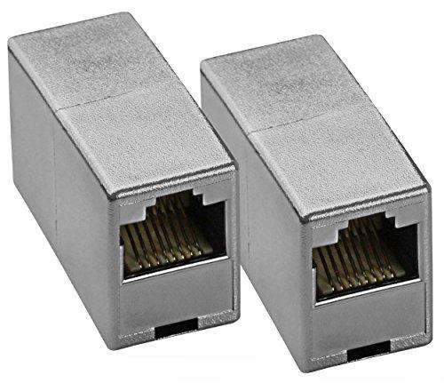 2 x mumbi Netzwerkkabel Verbinder - Modular Kupplung / LAN Kabel Adapter für CAT5e Kabel - Netzwerkverbinder