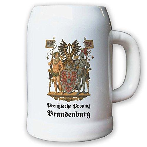 Krug/Bierkrug 0,5l - Preußische Provinz Brandenburg Weimarer Landeswappen#9476