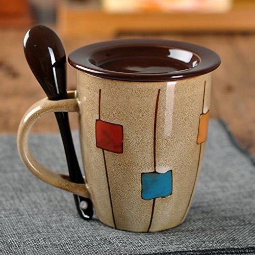 Mugcap Simple Taza de cerámica creativa en la Copa de Europa de...