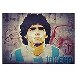 Lienzos De Fotos 30x50cm Sin Marco Diego Maradona Argentina Soccer Football Star On Cotizaciones Decoración del hogar