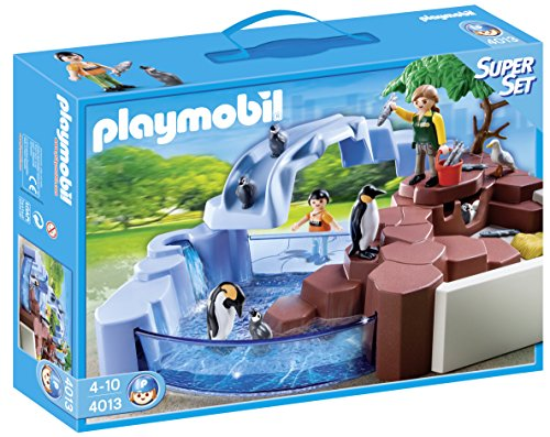 PLAYMOBIL Supersets Zoo: Set Piscina pingüinos