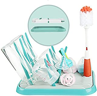 BPA-Free Easily Dry /& Store Breastfeeding Essentials Anywhere with Travel Bottle Drying Rack Adjustable Baby Bottle Drying Mat with Built in Drainer /& 8 Moveable Pegs nanob/éb/é Slim Drying Rack