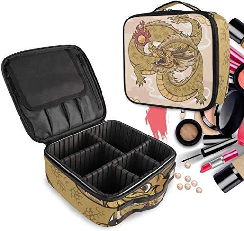 Cosmétique HZYDD Golden Dragon Chinois Make Up Bag Trousse de Toilette Zipper Sacs de Maquillage Organisateur Poche for Compartiment Femmes Filles Gratuit