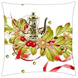 LESGAULEST Throw Pillow Cover (18x18 inch) - Spring Summer Flowers Greens Maker Pot Nature