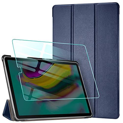 AROYI Funda Compatible con Samsung Galaxy Tab S5e 10.5 T720/T725 Carcasa Silicona Smart Cover con Soporte Función, Auto Sueño Estela y Protector Pantalla (Azul)