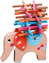 TOYMYTOY Wooden Stacking Building Block Cute Elephant Balancing Toy Games Fine Motor Skill Educational Toys for Kids Children