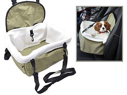 Vetrineinrete® Trasportino per cani e gatti da auto borsa da sedile seggiolino portatile con cinghia di sicurezza per animali fino a 9 kg C10