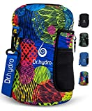 DR.HYDRO 3.2L Water Bottle One Gallon Sleeve Jug Insulated Neoprene Cover Large 108oz Holder with Shoulder Strap for Gym and Workout (Grunge Circle)