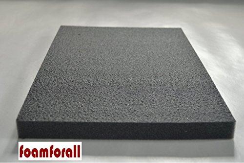 Dämmung, Absorptionsmatte 200x100x2cm, verhautet, selbstklebend aus hochwertigem PU-Schaumstoff