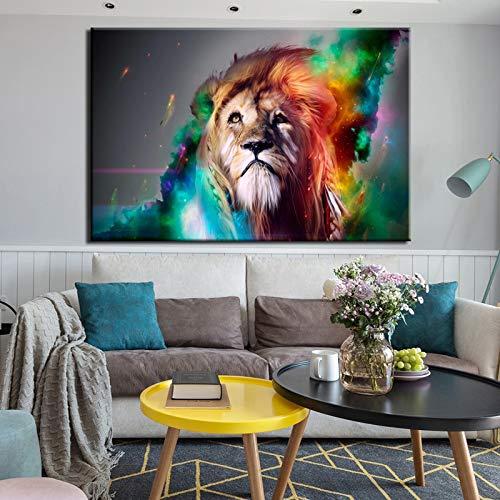 Puzzle 1000 piezas Cuadro abstracto animal pintura león puzzle 1000 piezas animales Rompecabezas de juguete de descompresión intelectual educativo divertido juego familiar par50x75cm(20x30inch)