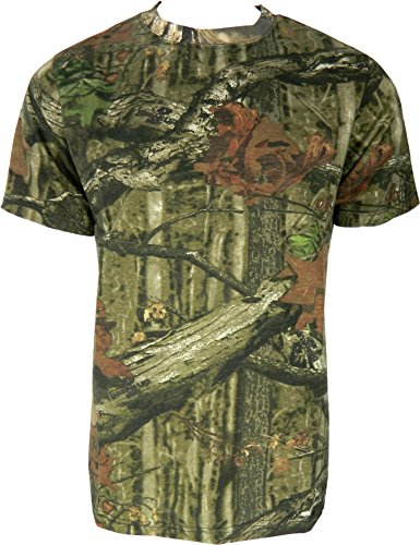 Herren Dschungel Druck Tarnung Kurzarm T-Shirt Camo Jagd Normal und Plus Size Top