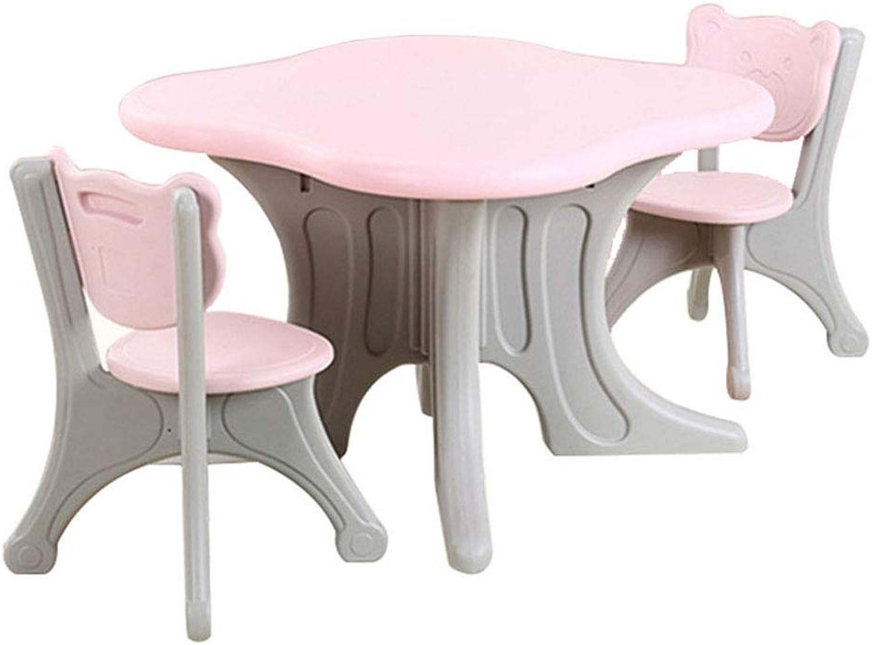 ZH kindersitzgruppen Tisch und stuhlset, Jungen- und Mdchen aktivittstisch mit 1 Stuhl, plastiktisch für Kinderzimmer mit 2 Stühlen,sicher und langlebig Graffiti Desktop