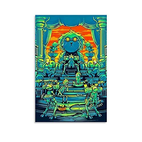 DRAGON VINES Animación dibujos animados Rick and Morty Dog Kingdom Reign impresiones de arte para sala de estar, decoración de club, 60 x 90 cm