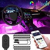 Éclairage LED de Voiture Intérieur, Govee Bande de LED Musique Multicolore pour Auto avec APP,...