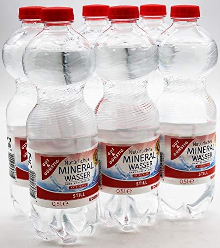Gut und Günstig Natürliches Mineralwasser Still, 18er Pack (18 x 0.5 l) EINWEG