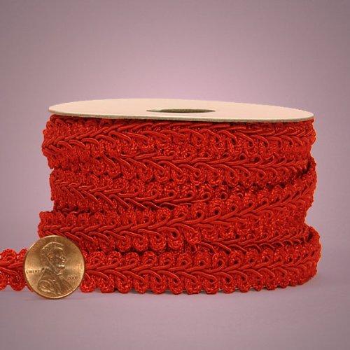 Red Gimp Braid Trim, 5/8