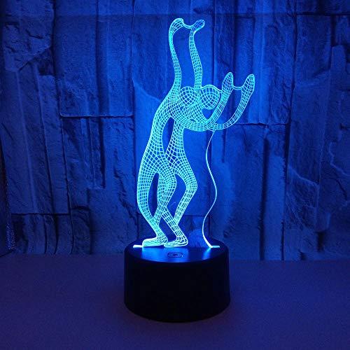 Ilusión 3D Lámpara Luz Nocturna Infantil Niños Juguetes Luces Danza 16 Colores Cambio Touch Control Con Cable Usb Y Control Remoto Regalos De Cumpleaños